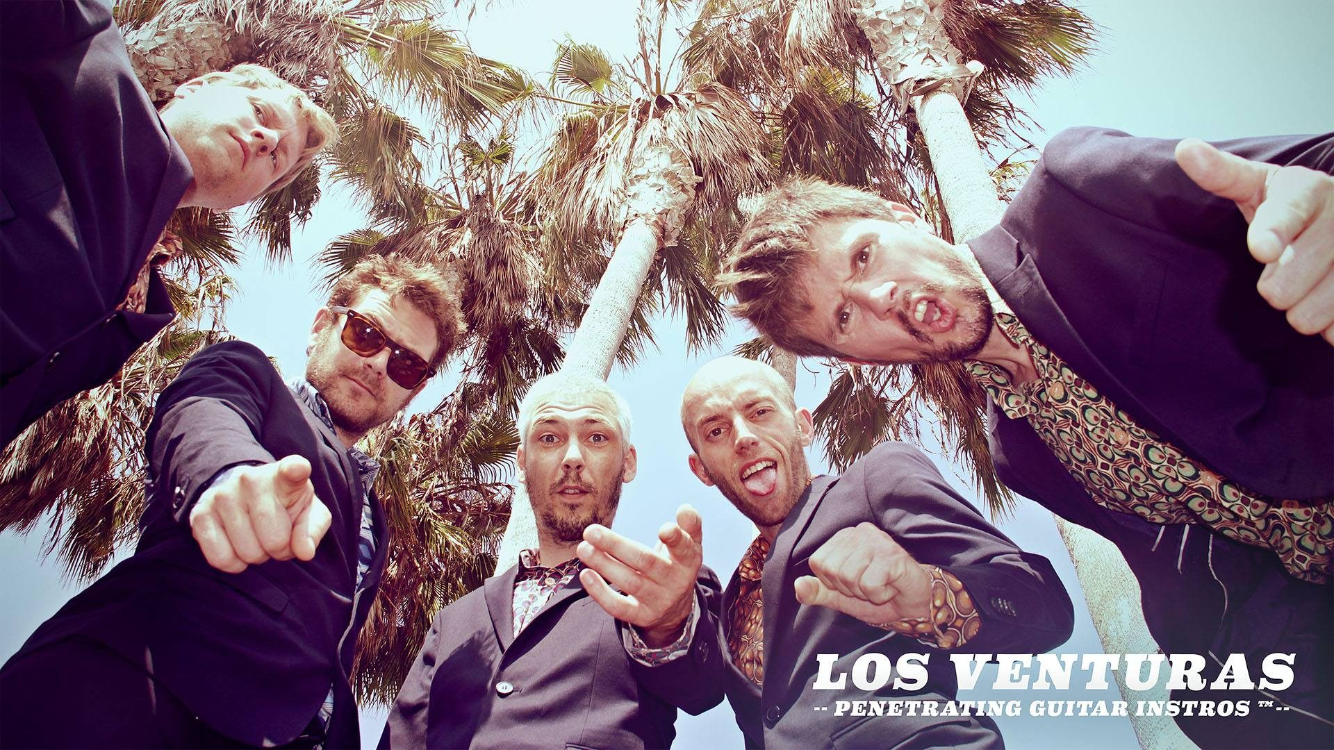 Los Venturas penetrating guitar instros Belgium Green Cookie records promo photo