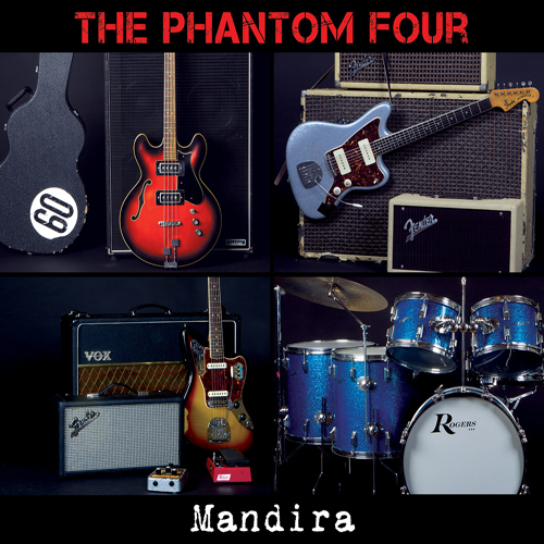 GC043 The Phantom Four Mandira CD cover artwork Green Cookie records 14-6-2014
